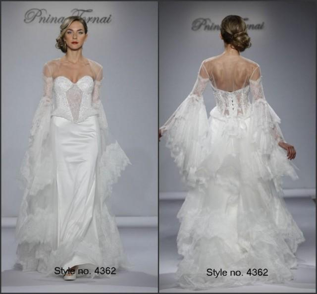2015 backless fall wedding dresses with wrap satin and for Backless wedding dresses designer