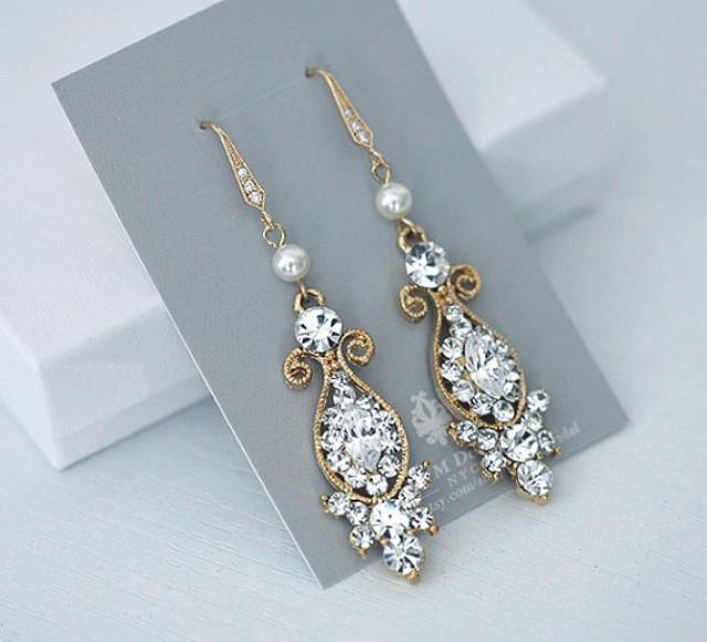 vintage inspired bridal earrings wedding jewelry
