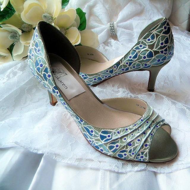 Peacock Feather Shoes Wedding