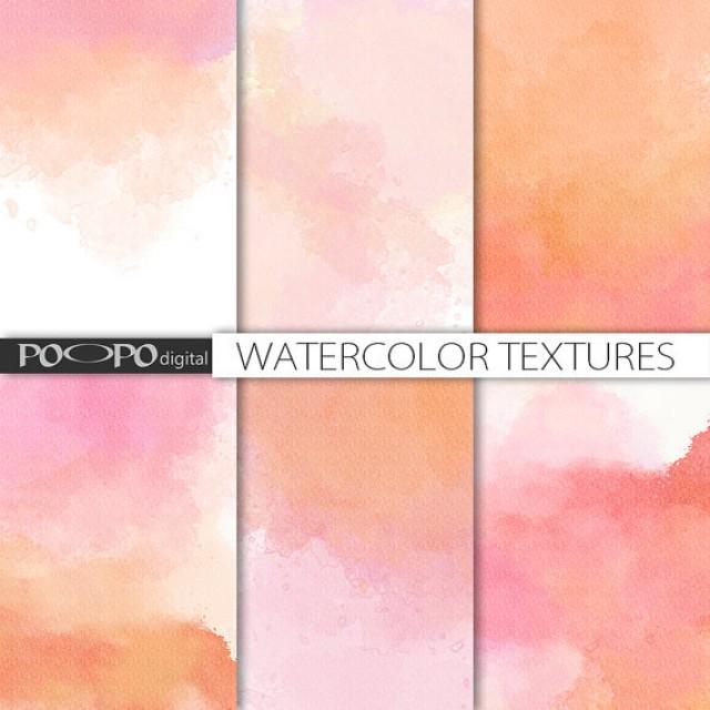 ombre watercolor digital paper watercolour scrapbook hand painted red pink orange peach pastel wedding invitation texture background diy 2228870 weddbook weddbook