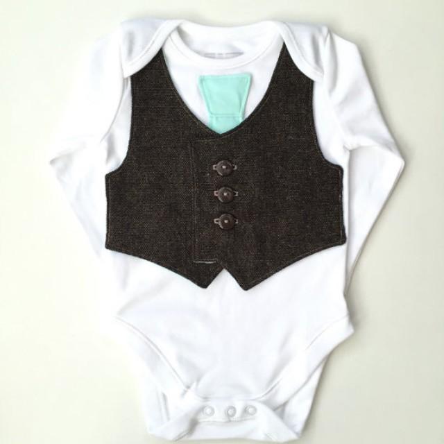 Baby Vest And Tie Newborn Boy Clothes Baby Boy Clothing