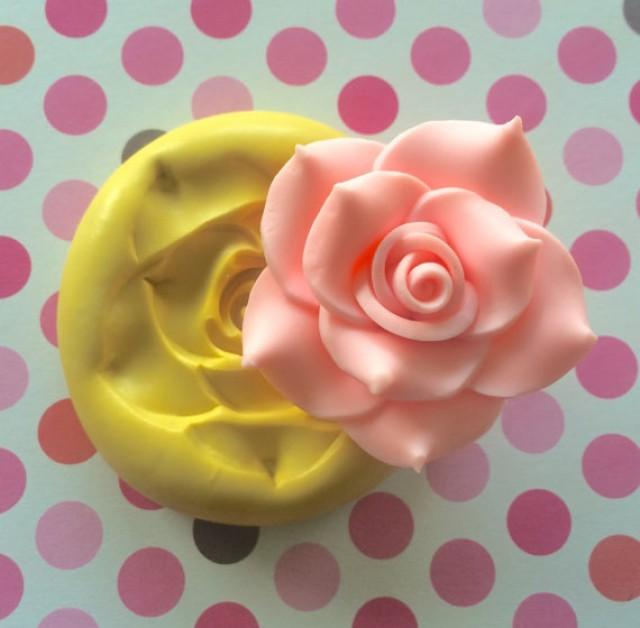Large Big ROSE Silicone Mold - Flexible MOLD, PMC, Cake