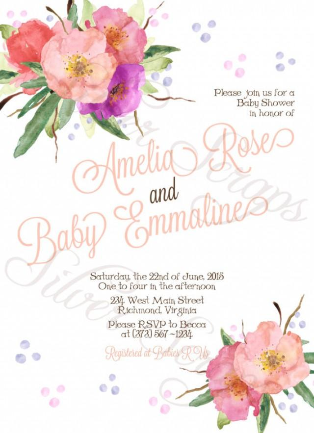 baby shower engagement party bridesmaids luncheon invitation 5