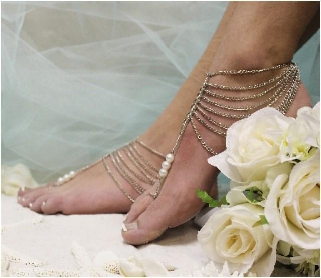 Barefoot Sandalsbeach Wedding Barefoot Sandals Bridal Foot Jewelrybeautiful Barefoot Sandals