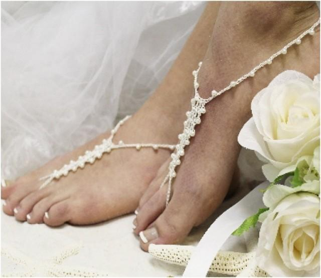 footless sandles SOMETHING SILVER wedding  barefoot sandals wedding