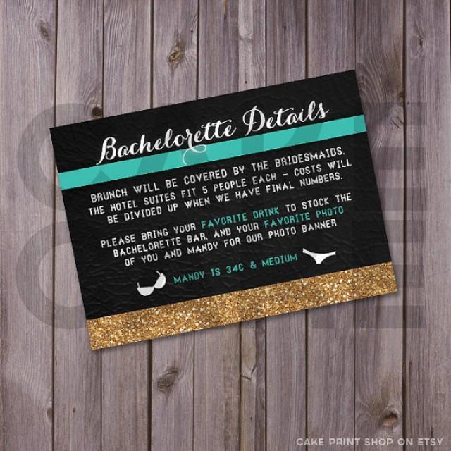 Hen Party Invitation Printable Bachelorette Invite Glitter – Party Invitation Size