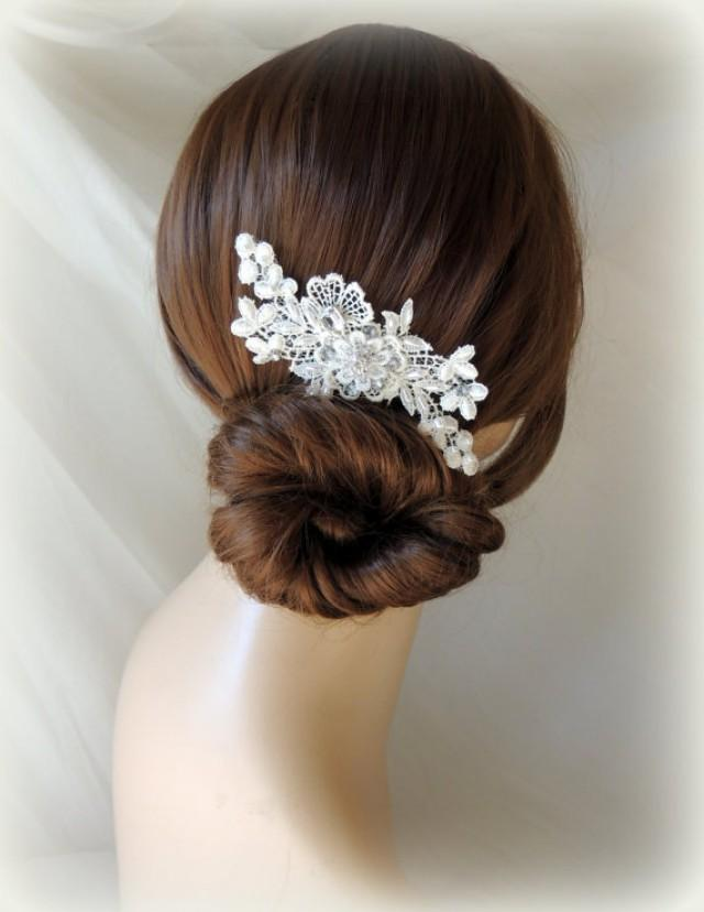 Lace And Pearl Bridal Hair Comb Wedding Hair Comb Vintage Style