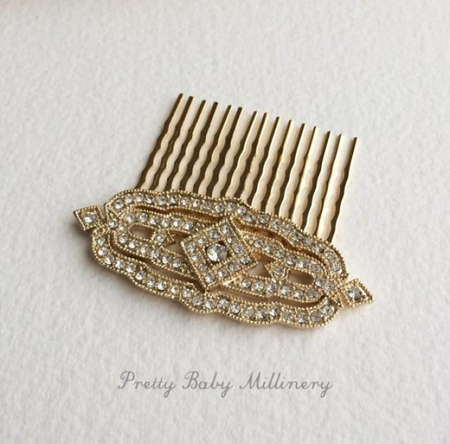 Gold Wedding Comb, Great Gatsby Comb, Wedding Bridal Hair Accessories