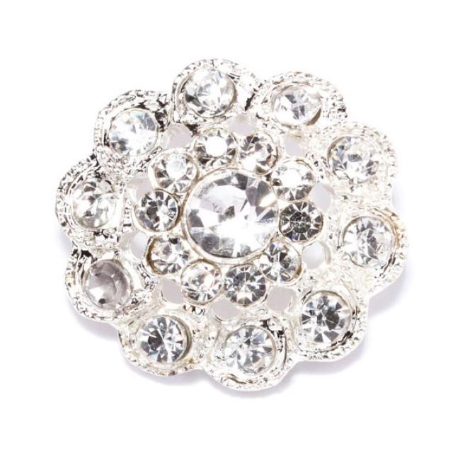 10pcs Crystal Buttons Wholesale Wedding Crystal Flower