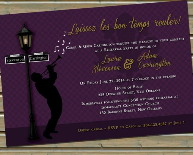 New Orleans Jazz Fleur De Lis Invitation With Envelopes 2230889 Wedd