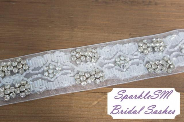 Rhinestone Crystal Bridal Belt Jeweled Belt Rhinestone