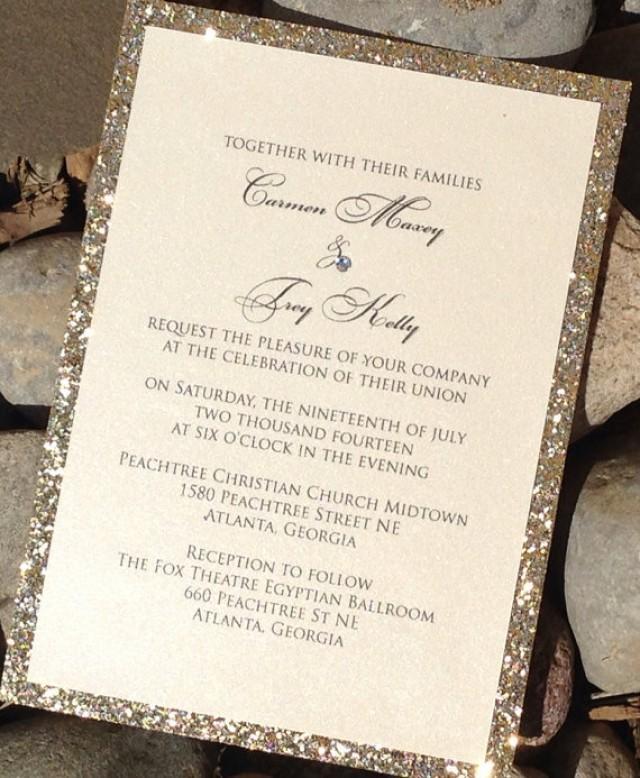 Glitter Wedding Invitation - Glitter Bridal Shower Invitations ...