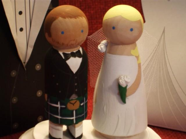 Groom In Kilt Cake Topper