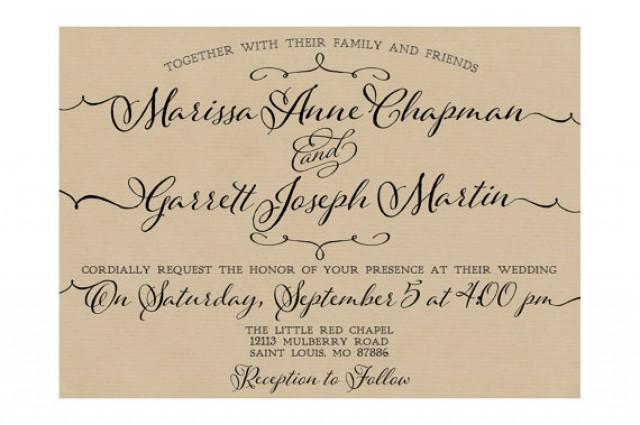 Wedding Invitation Paper Types: Trendy Type Wedding Invitations, Kraft Paper Background