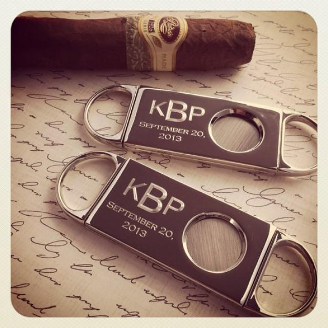 Best Man Groomsmen Gift Personalized Engraved Cigar Cutter ...