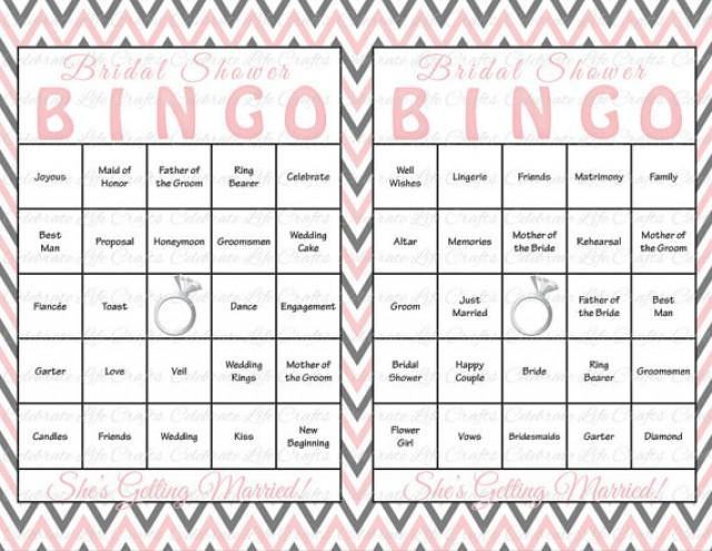 photo regarding Bridal Shower Bingo Free Printable identify 30 Bridal Shower Bingo Playing cards - Do-it-yourself Printable Get together Sport