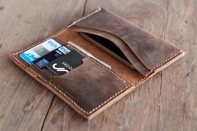 Leather Wallet -- Groomsmen Gift -- IPhone 5s -- Wallets ...