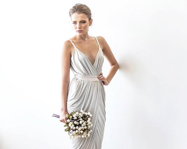 White Maxi Wrap Dress Wedding Resiption Beach Bridel Formal 2232451