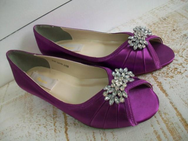 Purple Wedge Wedding Shoes  The Knot
