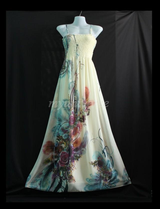 Plus size maxi dress wedding gown ivory bridesmaid dress for Summer maxi dress for wedding