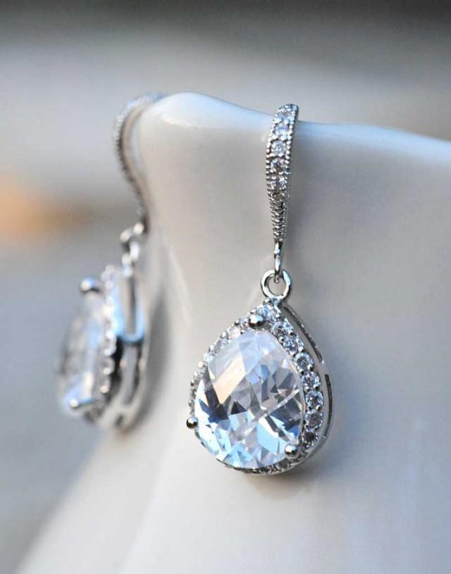 bridal jewelry drop earrings vintage earrings wedding
