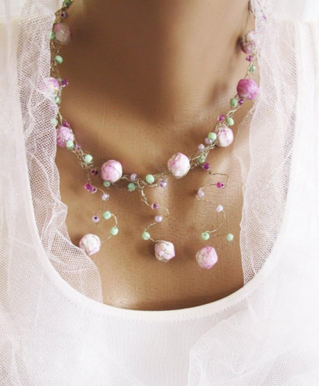 Wire Crochet Necklace, Wire Jewelry, Jewelry Necklace, Wedding ...