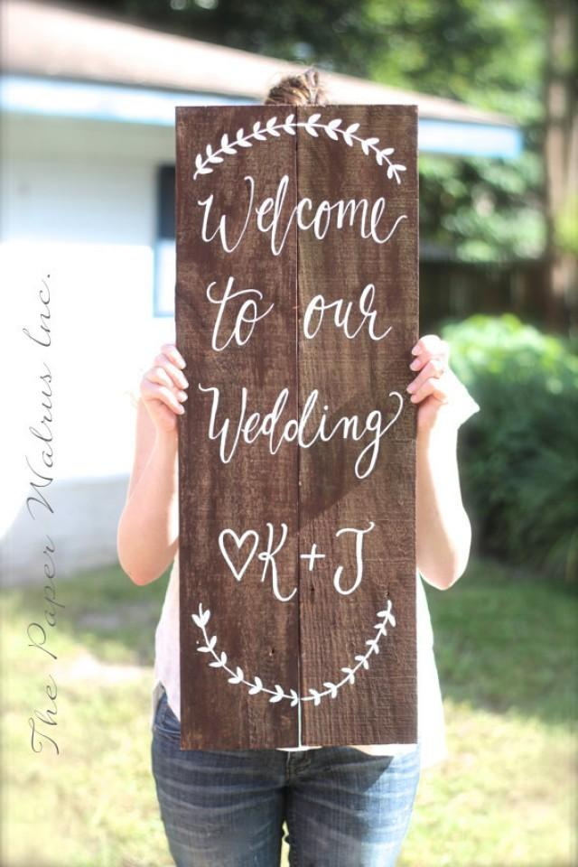 Rustic Wooden Wedding Sign Welcome Sign Wedding
