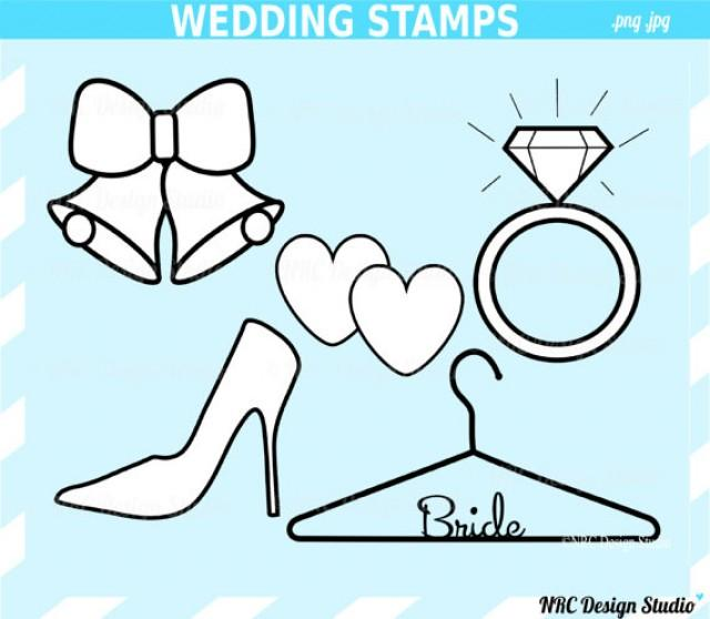 SALE - Engagement Party Clip Art - Classic Wedding Stamps Clip Art ...