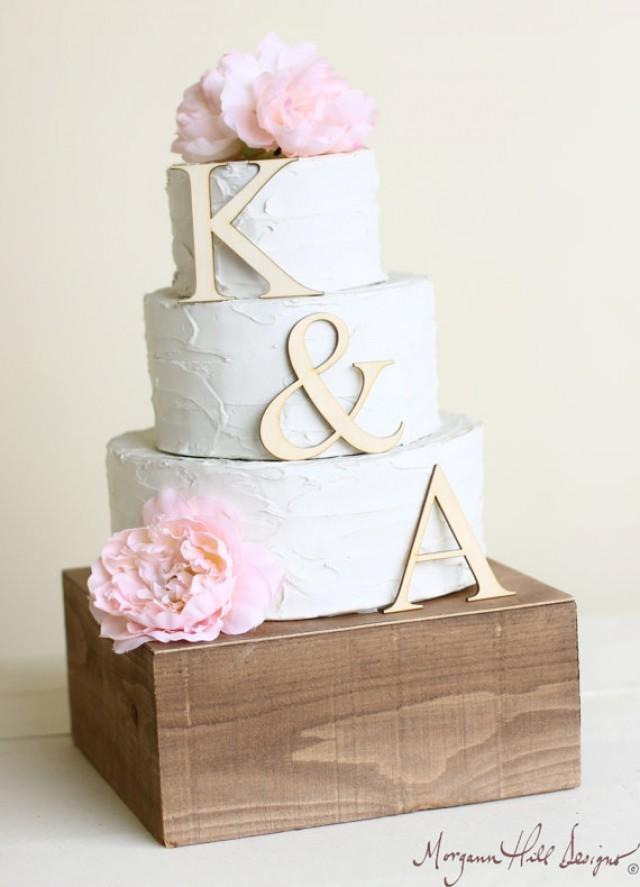 Personalized Wedding Cake Topper Wood Initials Rustic Chic Country ...