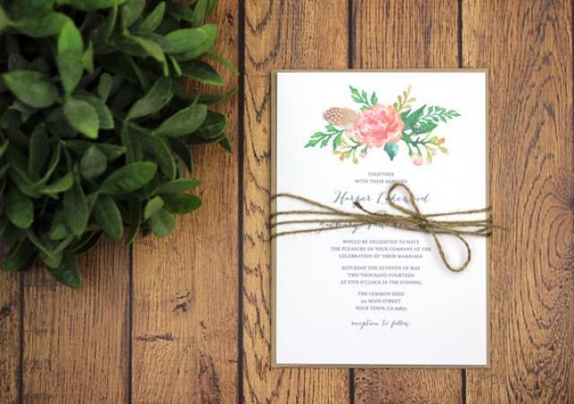 Rustic Backyard Wedding Invitations :  Garden, Backyard, DIY Home, Prints, Printed Wedding Invites (1080