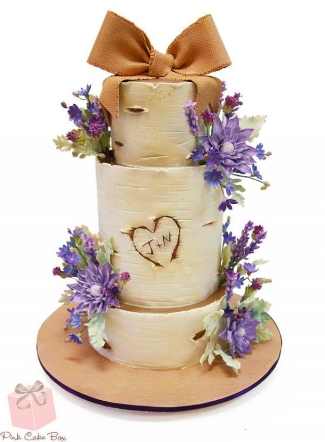 birch tree wedding cake fall wedding cakes 2236250 weddbook. Black Bedroom Furniture Sets. Home Design Ideas