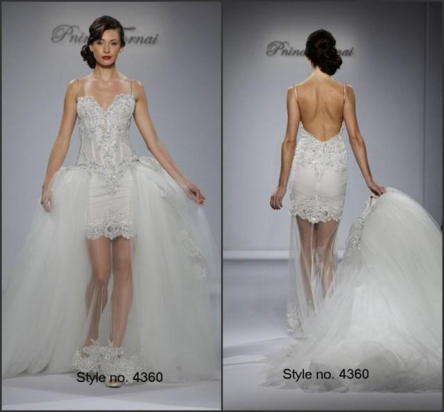 Romantic mermaid sexy wedding dresses backless beaded for Removable tulle skirt wedding dress