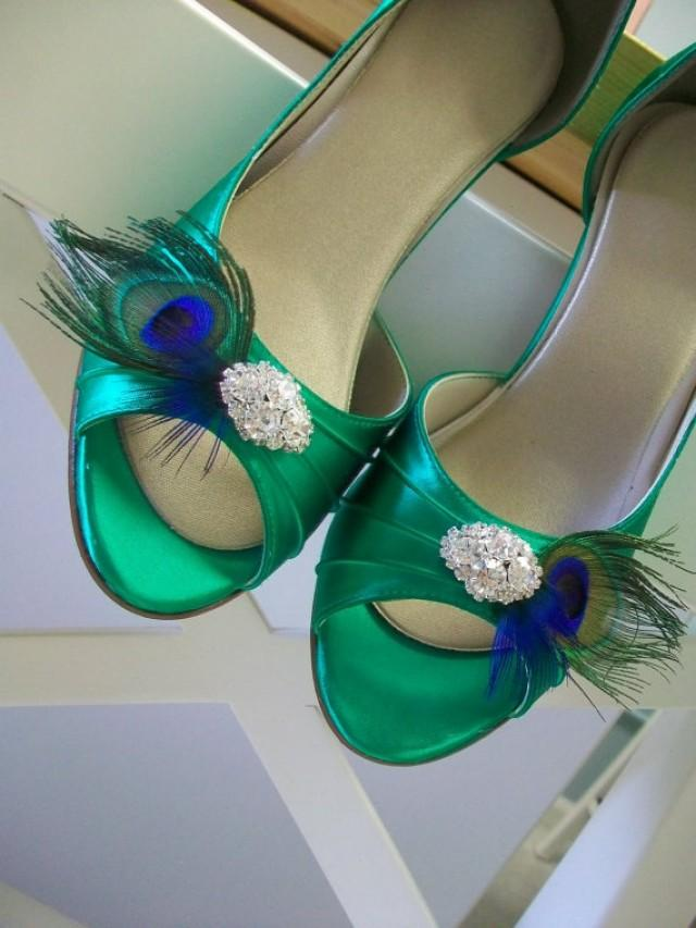 Peacock Feather Wedding Shoes