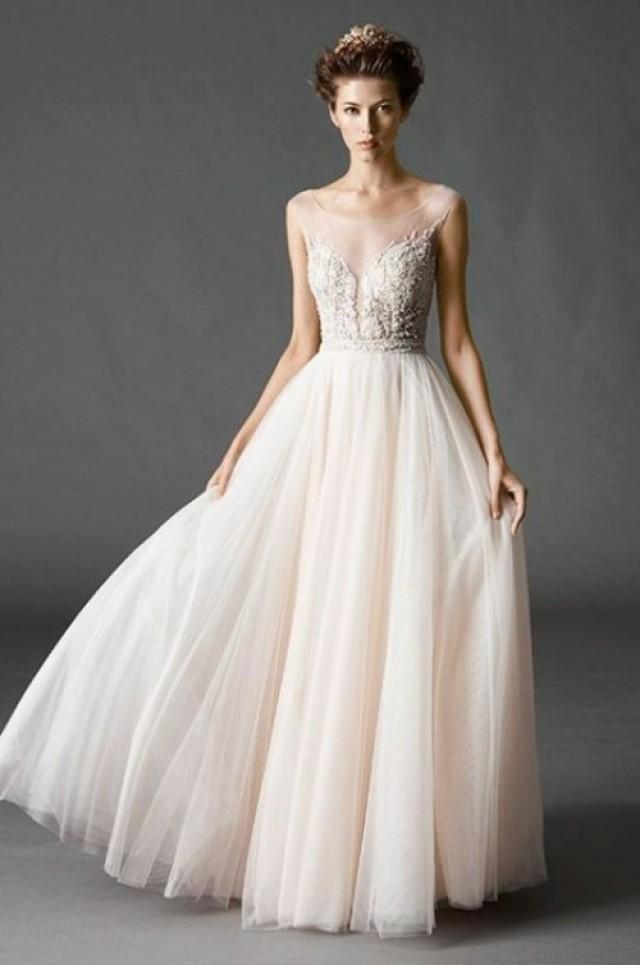 There Re Diffe Types Of Wedding Dress Necklines And The Strapless Type Have Ruled It All For A Number Years Now We See That Illusion Neckline