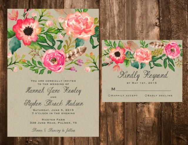 Flower Wedding Invitations 024 - Flower Wedding Invitations
