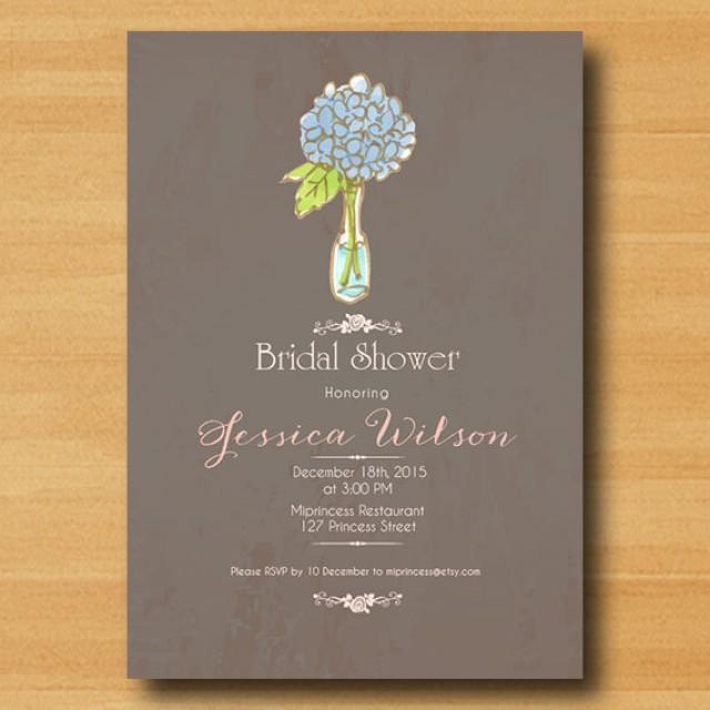 Bridal shower invitation wedding shower invitation for Designer bridal shower invitations
