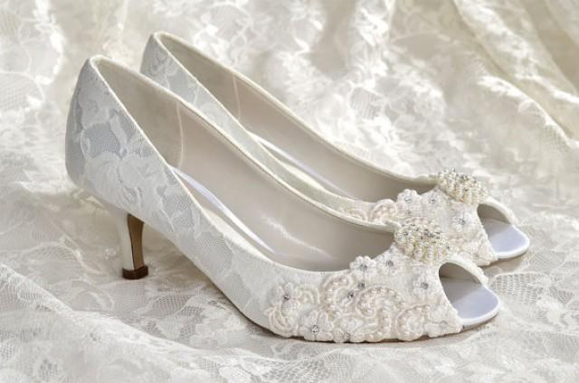 Low Heel Wedding Shoes Custom Colors 250 Choices