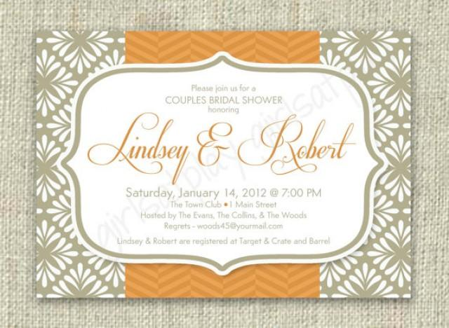 Elegant fall bridal shower autumn pumpkin invitation for Fall wedding invitations with pumpkins