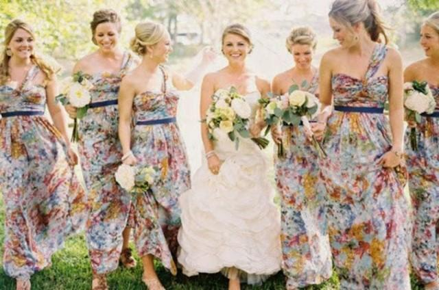 wedding photo - Print Style Bridesmaid Dresses