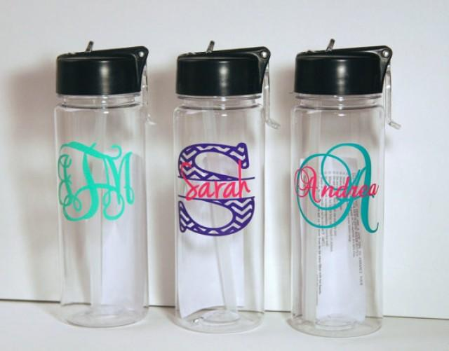 Personalized Water Bottle Bridesmaid Gift Monogrammed
