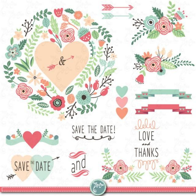 floral wedding clipart free download