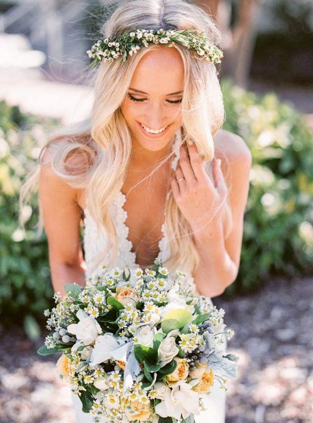 wedding photo - Flower crowns!