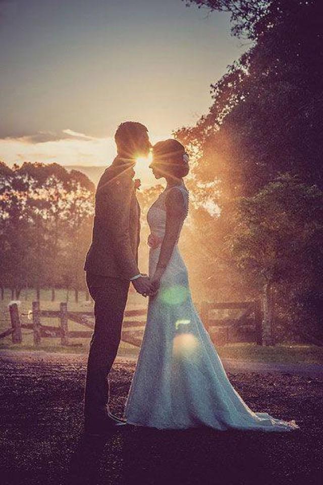 wedding photo - Love before sunset!