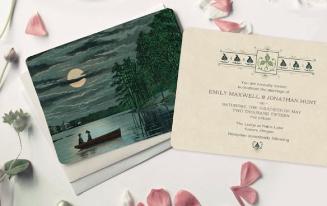 Lake Themed Wedding Invitations