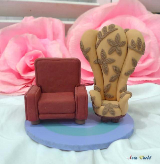 Carl And Ellie Chairs Wedding Cake Topper