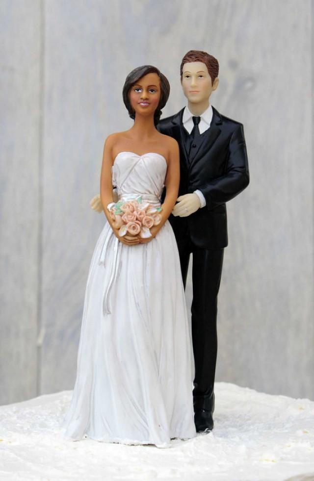Plus Size African American Wedding Cake Toppers