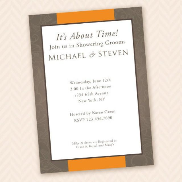 two grooms gay wedding shower invitation 2240699 weddbook With gay wedding shower invitations