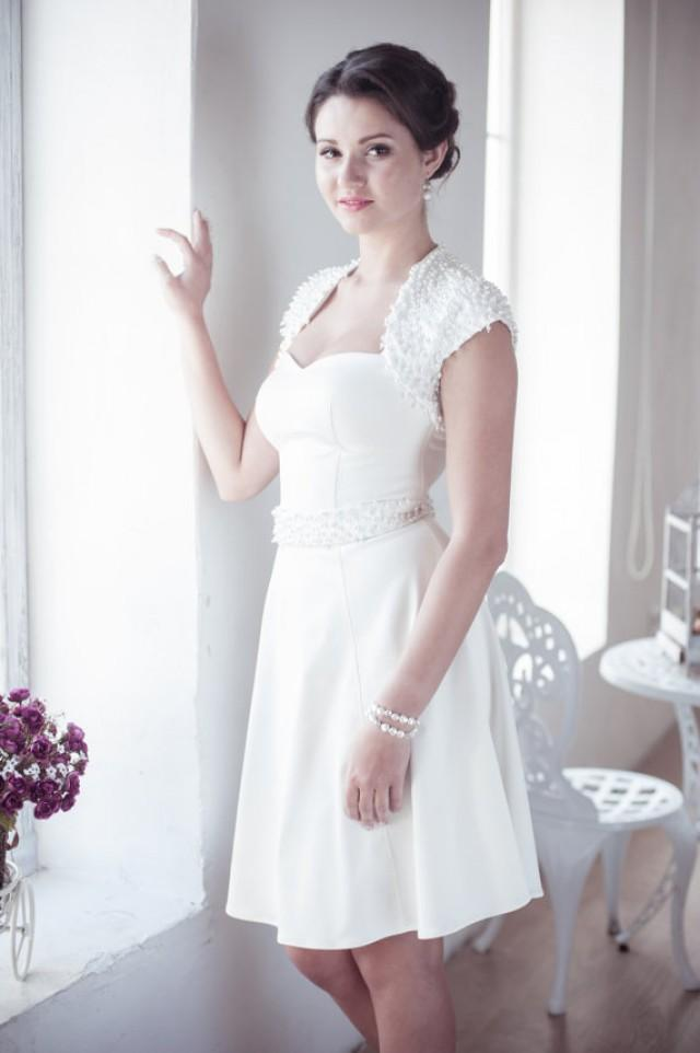 wedding photo - A-line short wedding dress M28