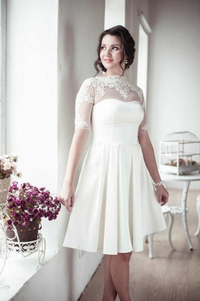 wedding photo - A-line short wedding dress M12