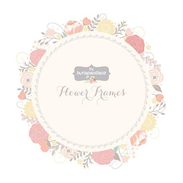wedding floral wreath clip art hand illustrated digital flowers flower frames wedding invitation shower invitation frame weddbook